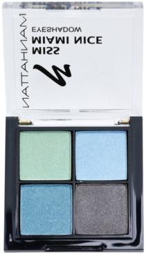 Manhattan Miss Miami Nice o varietare de nunate pastelate pentru fardul de ochi