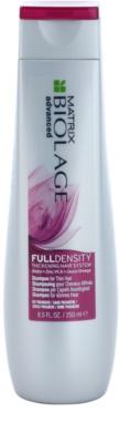 Matrix Biolage Advanced Fulldensity sampon a haj átmérőjének megerősítésére, azonnali hatással