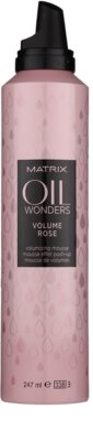 Matrix Oil Wonders Volume Rose espuma de cabelo para dar volume 1