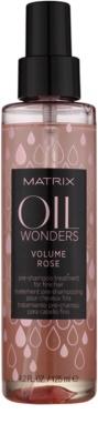 Matrix Oil Wonders Volume Rose tratamiento pre-champú  para cabello fino