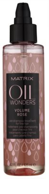 Matrix Oil Wonders Volume Rose tratament pre-sampon pentru par fin 1