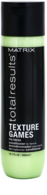 Matrix Total Results Texture Games acondicionador con polímeros para dar definición al cabello
