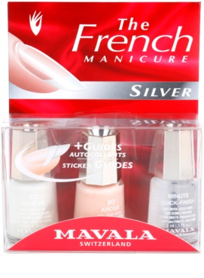 Mavala French Manicure Silver set pentru manichiura frantuzeasca