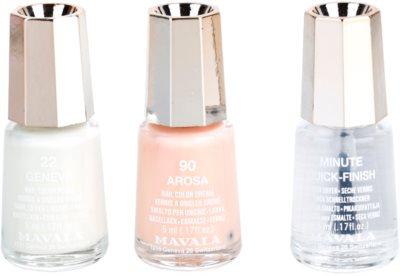 Mavala French Manicure Silver conjunto para manicure francesa 1