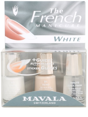 Mavala French Manicure White francia manikűr szett