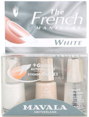 Mavala French Manicure White zestaw do francuskiego manicuru
