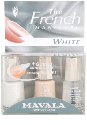 Mavala French Manicure White комплект за френски маникюр
