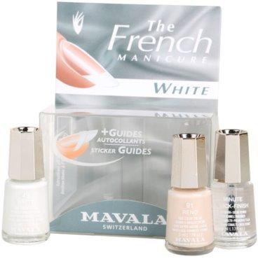 Mavala French Manicure White комплект за френски маникюр 1