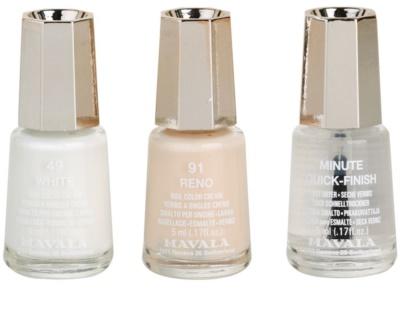 Mavala French Manicure White комплект за френски маникюр 2