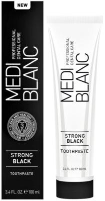 MEDIBLANC Strong Black dentrífico para proteção total dos dentes com efeito branqueador 1
