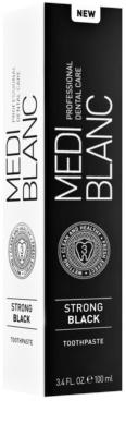 MEDIBLANC Strong Black dentrífico para proteção total dos dentes com efeito branqueador 3