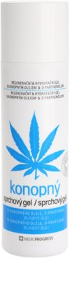 MEDICPROGRESS Cannabis Care gel de dus cu canepa