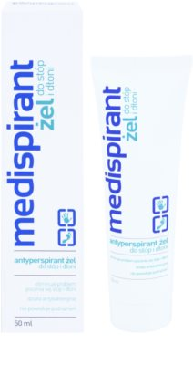 Medispirant Antiperspirant gel para mãos e pés contra a transpiração excessiva 1