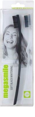 Megasmile Black Whitening Soft zubní kartáček s aktivním uhlím pro citlivé zuby 1