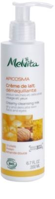 Melvita Apicosma кремове очищаюче молочко для обличчя та очей