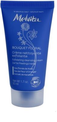 Melvita Bouquet Floral tisztító és peelinges krém