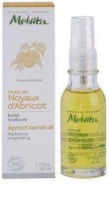 Melvita Huiles de Beauté Noyaux d'Abricot rozjasňujúci posilňujúci olej na tvár a telo 2