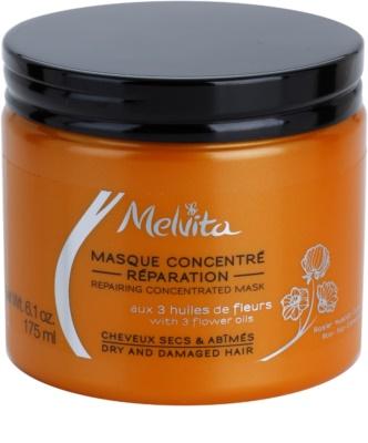 Melvita Hair mascarilla regeneradora para cabello seco y dañado