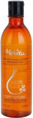 Melvita Hair champô regenerador para cabelo seco a danificado