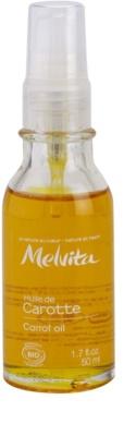 Melvita Huiles de Beauté Carotte омекотяващо олио за естествен загар за лице и тяло