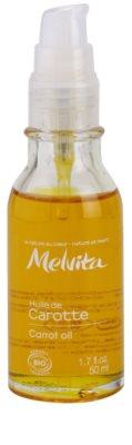 Melvita Huiles de Beauté Carotte омекотяващо олио за естествен загар за лице и тяло 1
