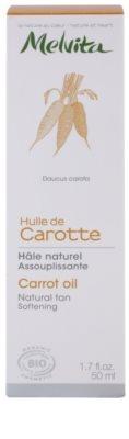 Melvita Huiles de Beauté Carotte омекотяващо олио за естествен загар за лице и тяло 3