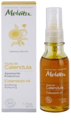 Melvita Huiles de Beauté Calendula nyugtató védő olaj arcra és testre 2