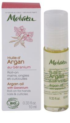 Melvita Huiles de Beauté Géranium aceite de argán para manos, uñas y cutículas 2