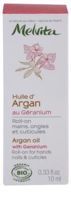 Melvita Huiles de Beauté Géranium aceite de argán para manos, uñas y cutículas 3