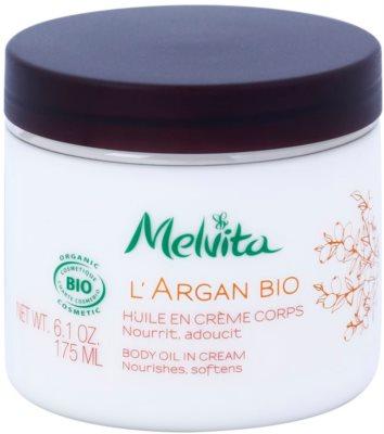 Melvita L'Argan Bio подхранващ крем за тяло за мека и гладка кожа
