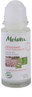 Melvita Les Essentiels deodorant roll-on fara continut de aluminiu pentru piele sensibila 1