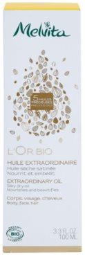 Melvita L'Or Bio gyengéd száraz olaj arcra, testre és hajra 2