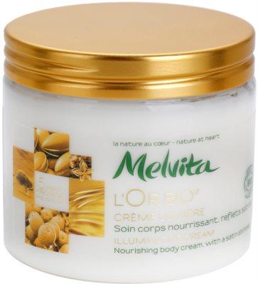 Melvita L'Or Bio crema iluminatoare pentru corp