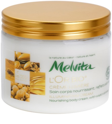 Melvita L'Or Bio rozjasňujúci krém na telo