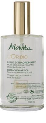 Melvita L'Or Bio óleo seco nutritivo para rosto, corpo e cabelo