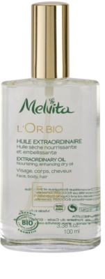 Melvita L'Or Bio vyživující suchý olej na obličej, tělo a vlasy