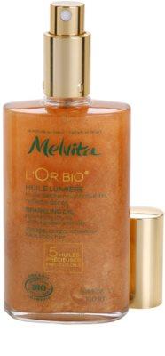 Melvita L'Or Bio óleo seco com brilho para rosto, corpo e cabelo 1