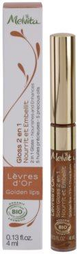Melvita L'Or Bio sijaj in balzam za ustnice 2v1 2