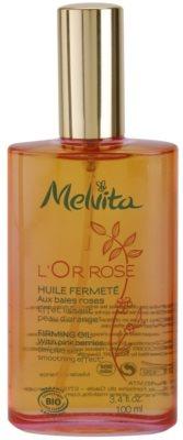 Melvita L'Or Rose óleo corporal refirmante  com efeito alisador