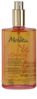 Melvita L'Or Rose óleo corporal refirmante  com efeito alisador 1