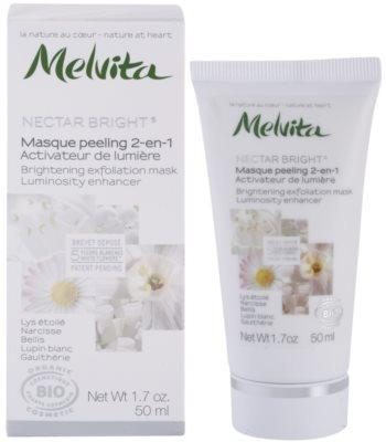 Melvita Nectar Bright piling maska za osvetlitev kože 1