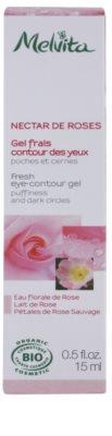 Melvita Nectar de Roses osvežilni gel za predel okoli oči proti oteklinam in temnim kolobarjem 2
