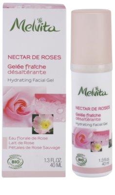 Melvita Nectar de Roses żel do twarzy o dzłałaniu nawilżającym 2