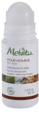 Melvita Pour Homme desodorante roll-on sin aluminio 1