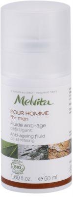 Melvita Pour Homme флуид против стареене за уморена кожа