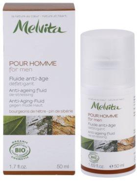 Melvita Pour Homme fluid proti staranju kože za utrujeno kožo 2