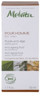 Melvita Pour Homme fluid proti staranju kože za utrujeno kožo 3