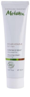 Melvita Pour Homme Creme com formação de espuma para barbear
