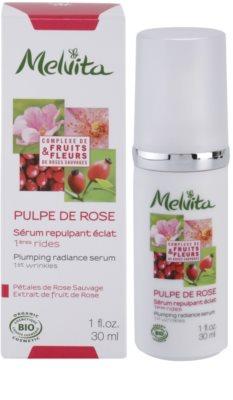 Melvita Pulpe de Rose aufhellendes Serum gegen die ersten Anzeichen von Hautalterung 2