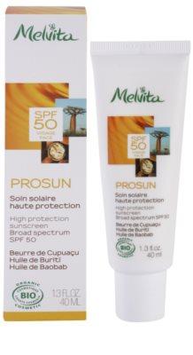 Melvita Prosun ásványi védő krém az arcra SPF 50 1